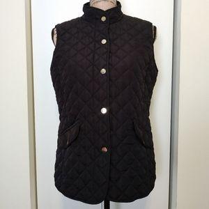 EUC St. John's Bay Black Puffer Vest Medium